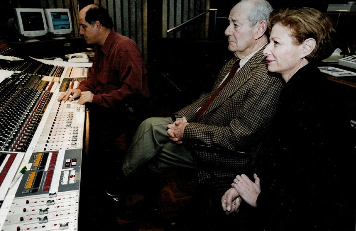 Sound mixer Lee Dichter with Walter and Nina Rosenblum