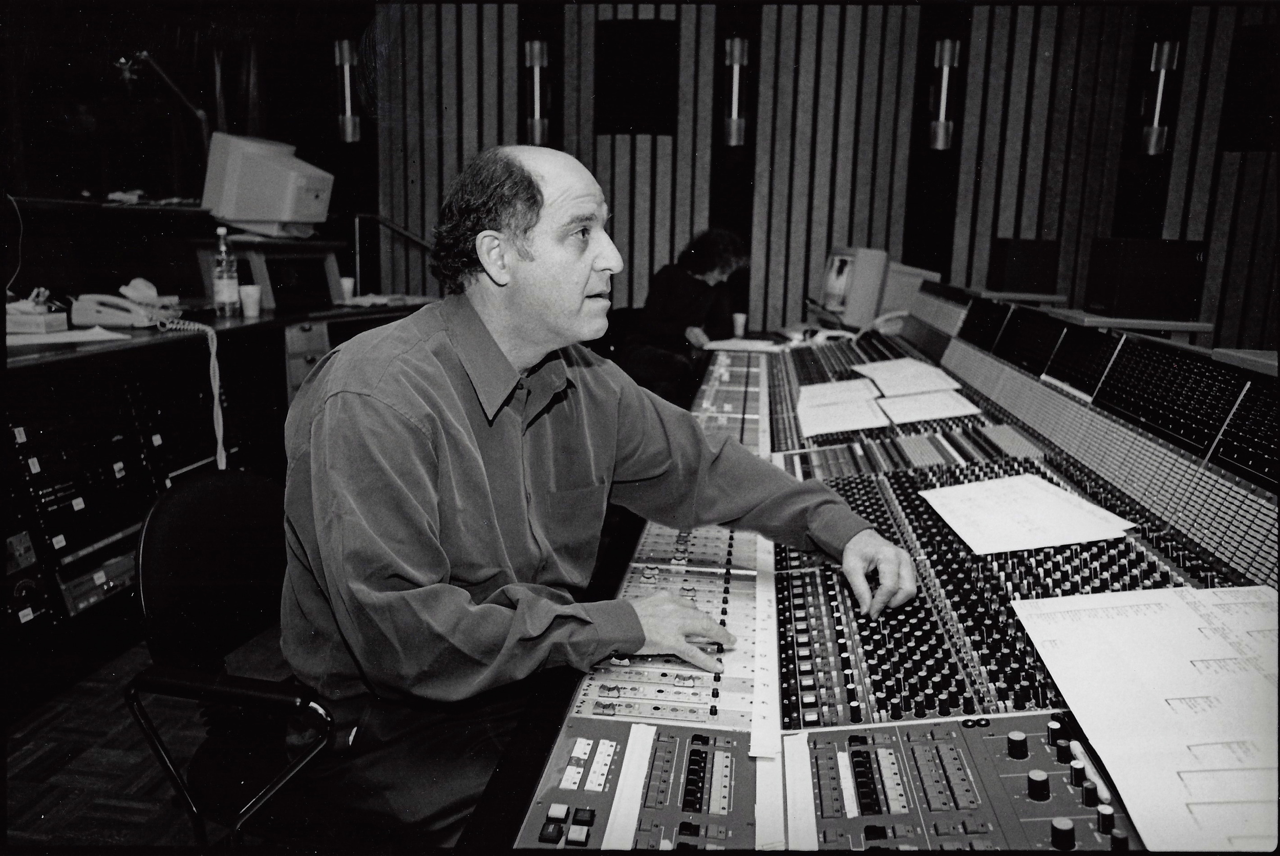 Sound mixer Lee Dichter at the post-production sound mix