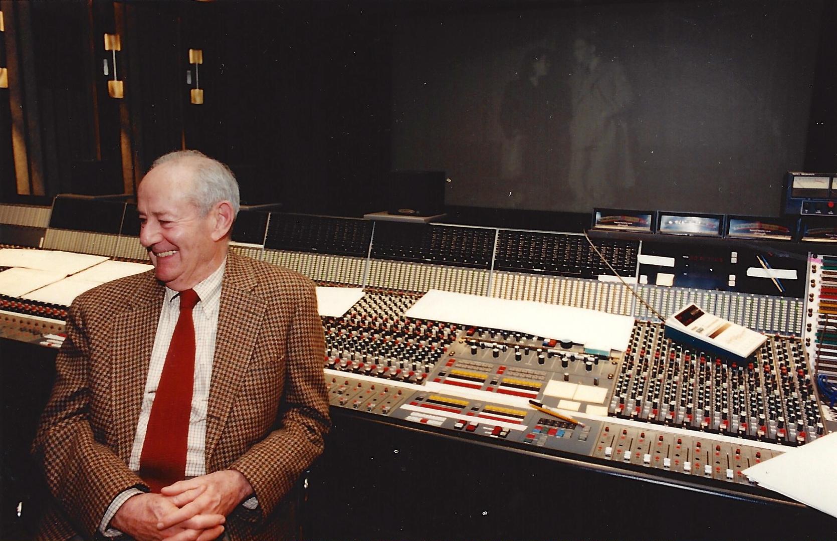 Walter Rosenblum at the post-production sound mix