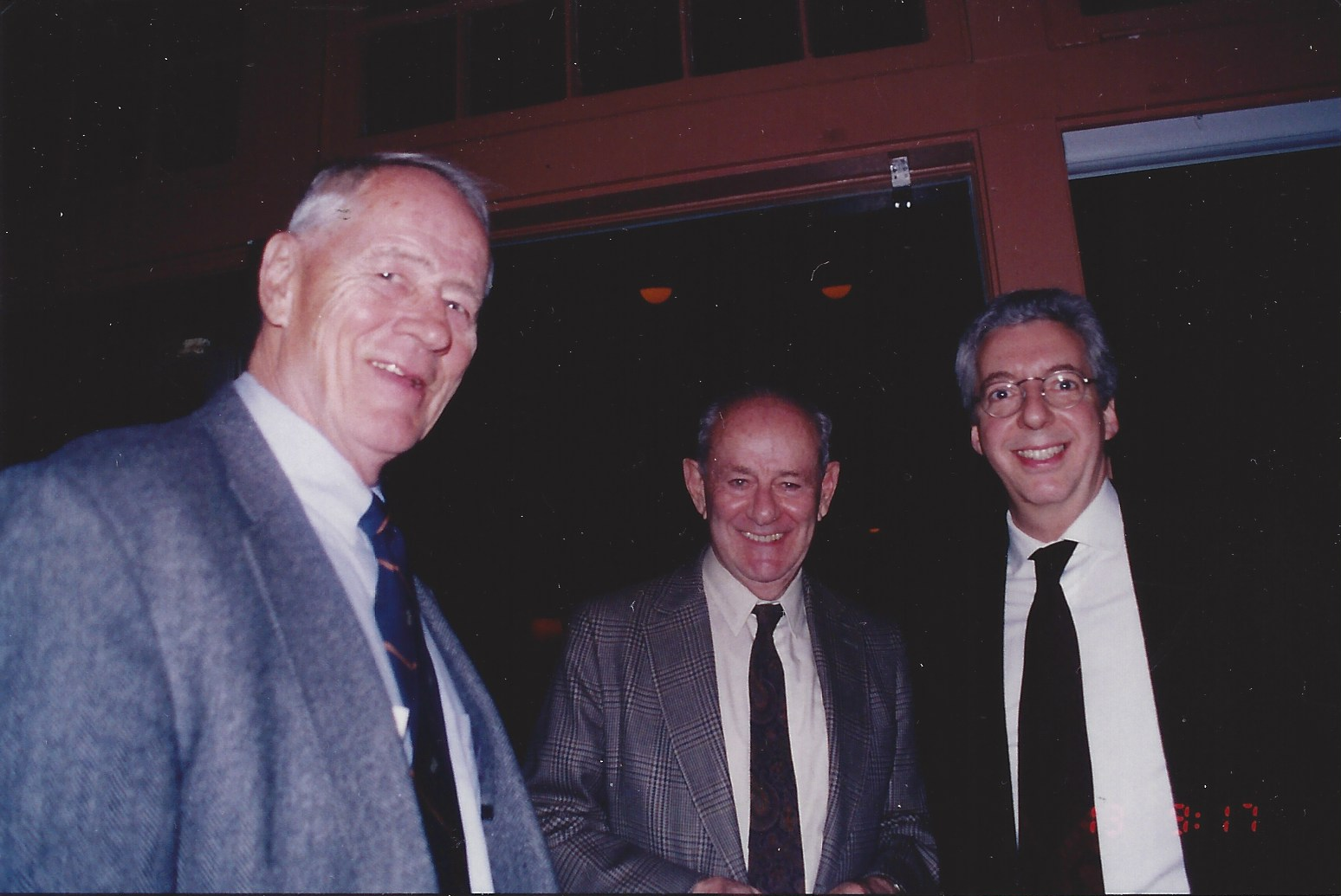 Stephen Ambrose, Walter Rosenblum and Dan Allentuck at the D-Day Premiere