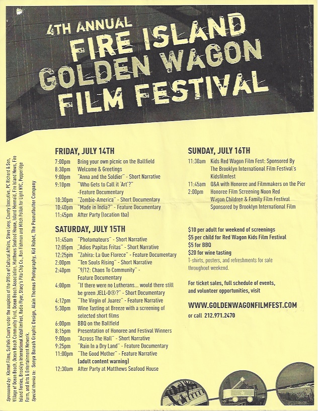 Fire Island Golden Wagon Film Festival, 2006