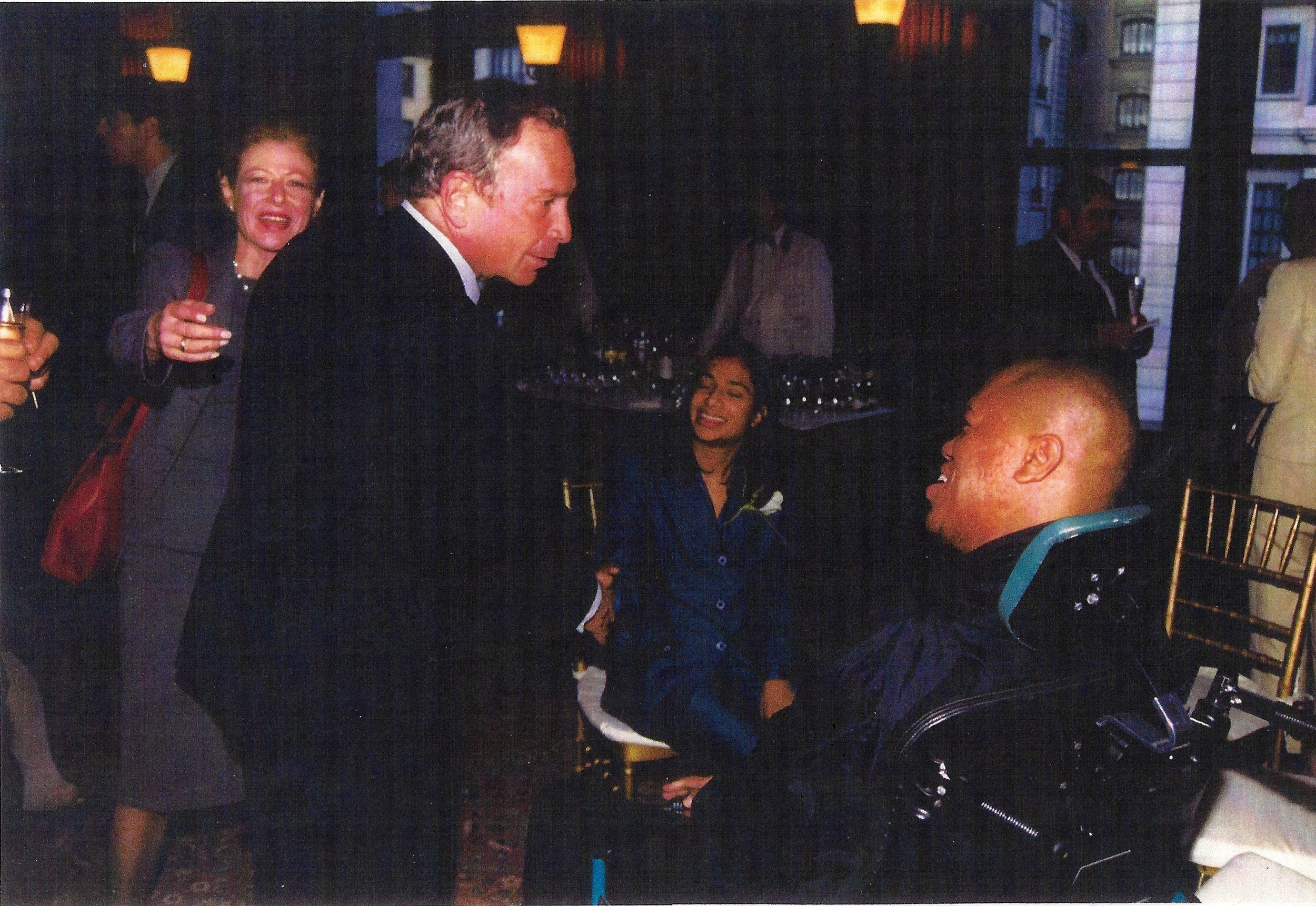 Terrance Stevens and Mayor Michael Bloomberg