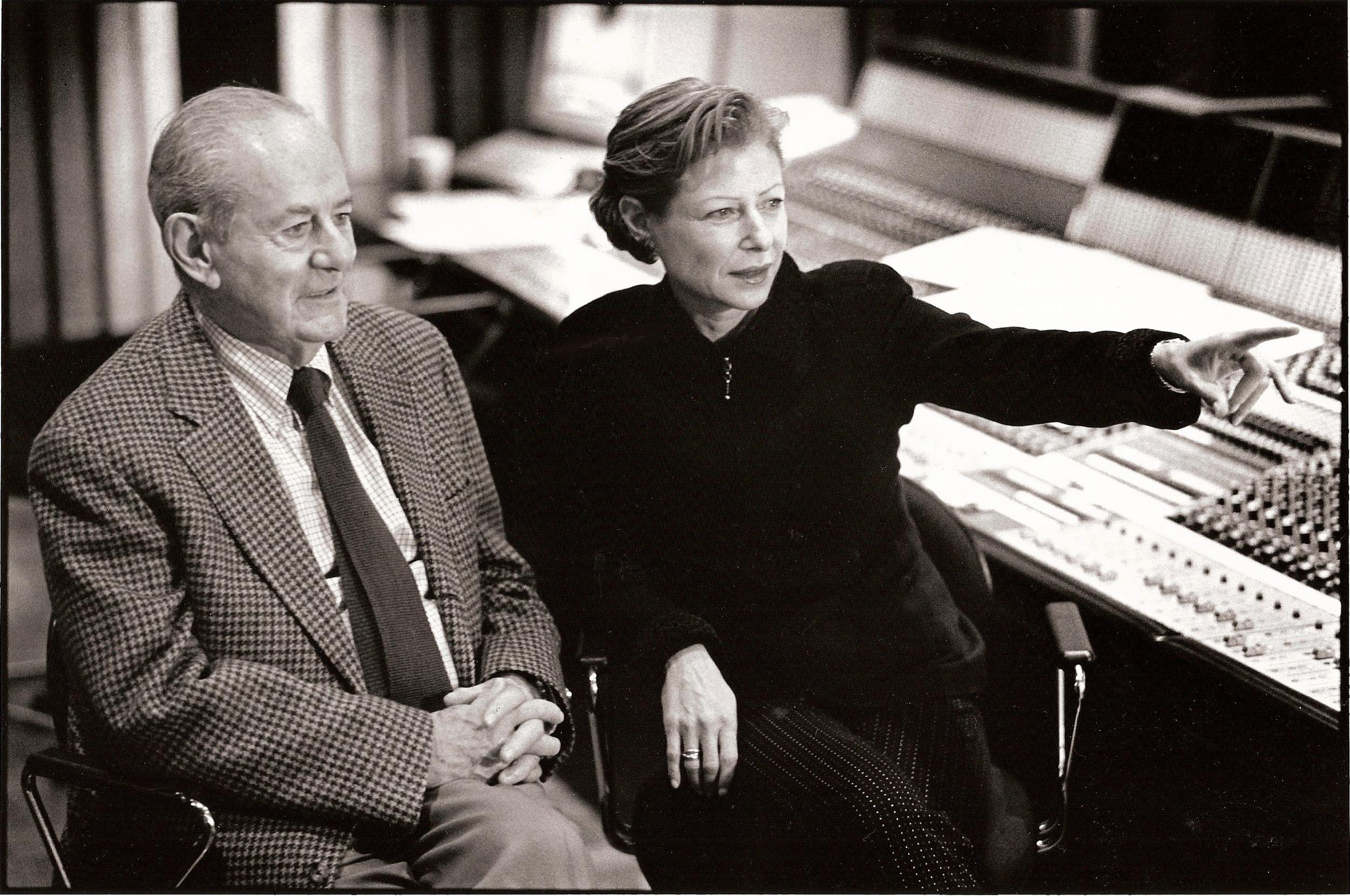 Nina and Walter Rosenblum at the post-production sound mix