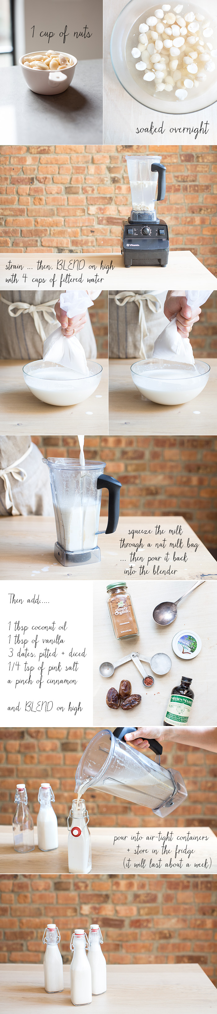 how to make the most delicious nut milk   a step by step guide with pictures! …… via: what's cooking good looking