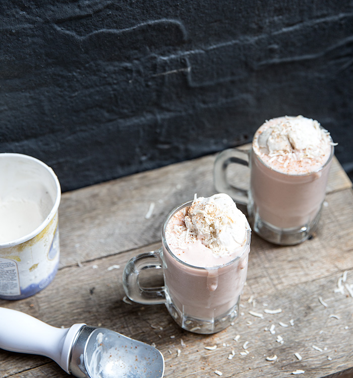 vegan rhubarb milk shake | what's cooking good looking