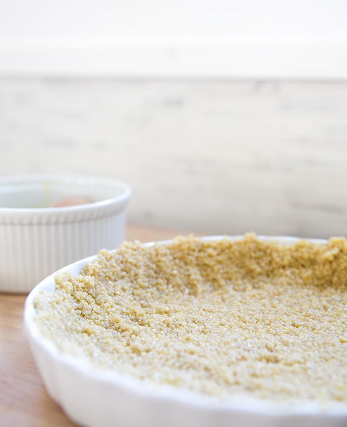 savory pumpkin pie + quinoa crust | what's cooking good looking