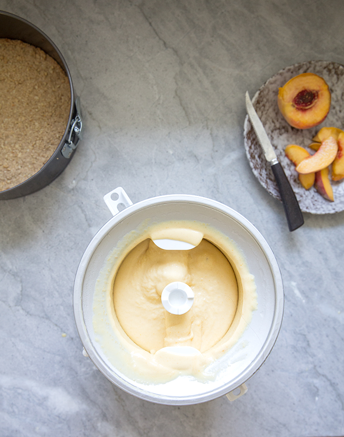 peach + honey ice cream cake | what's cooking good looking