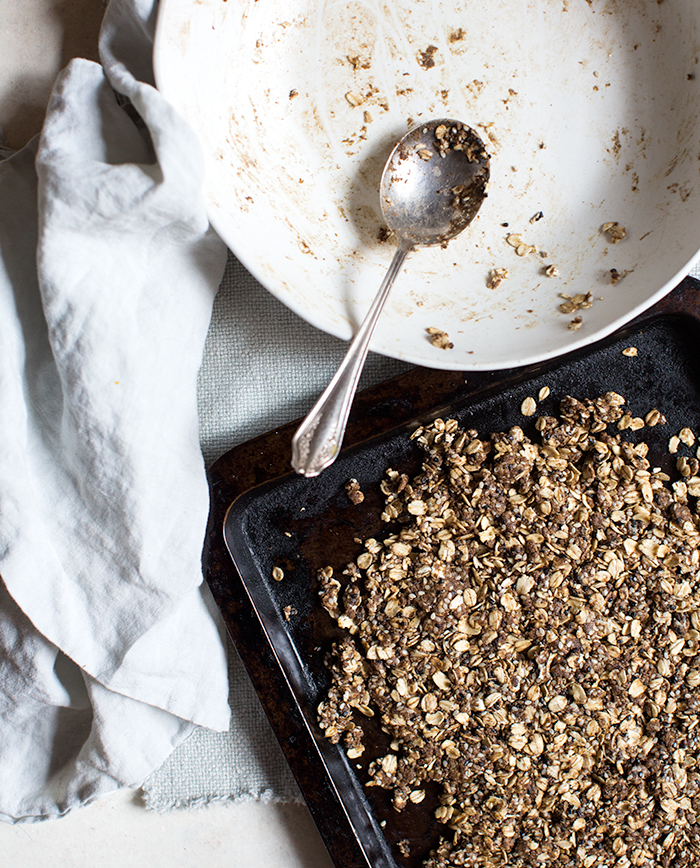 homemade cereal: matcha cocoa sesame clusters + macadamia milk | what's cooking good looking