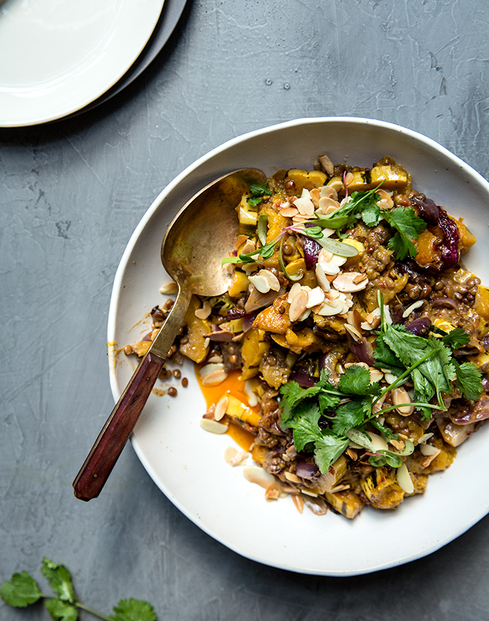 roasted squash + lentil coconut curry | what's cooking good looking