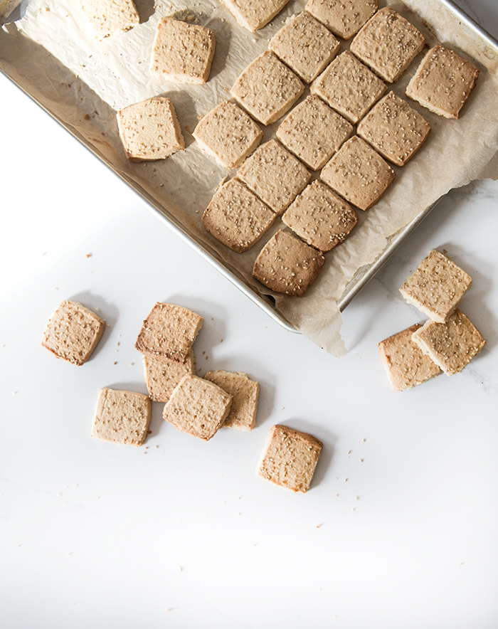miso sesame shortbread cookies | what's cooking good looking