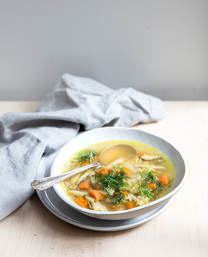 turmeric + ginger + shiitake chicken soup   what's cooking good looking