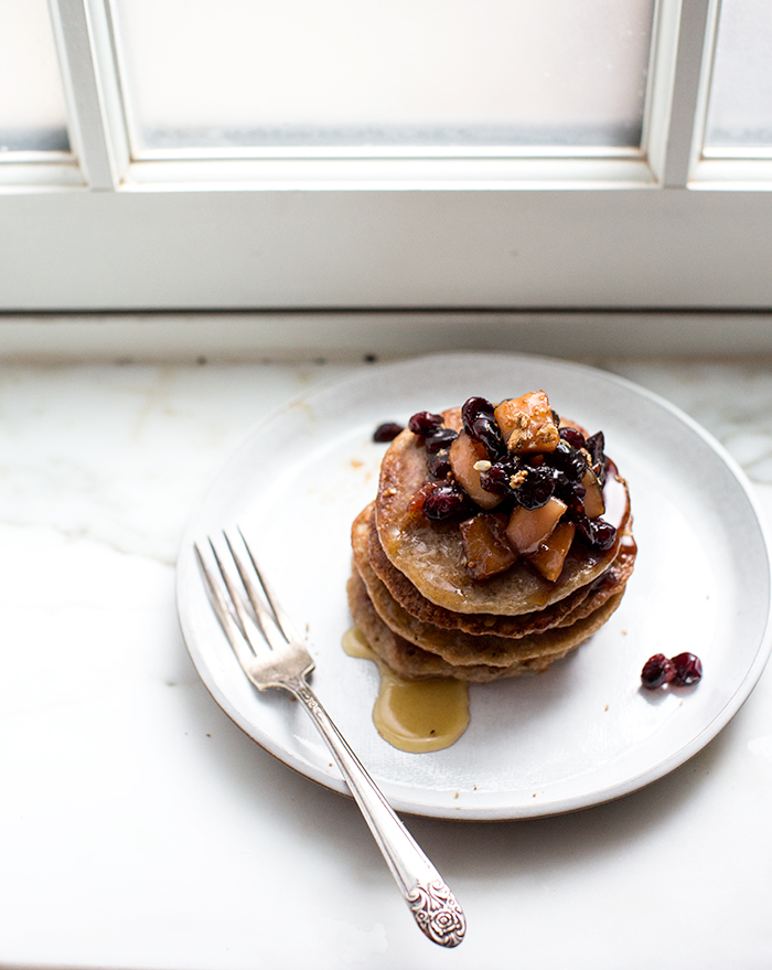 banana oat pancakes | what's cooking good looking
