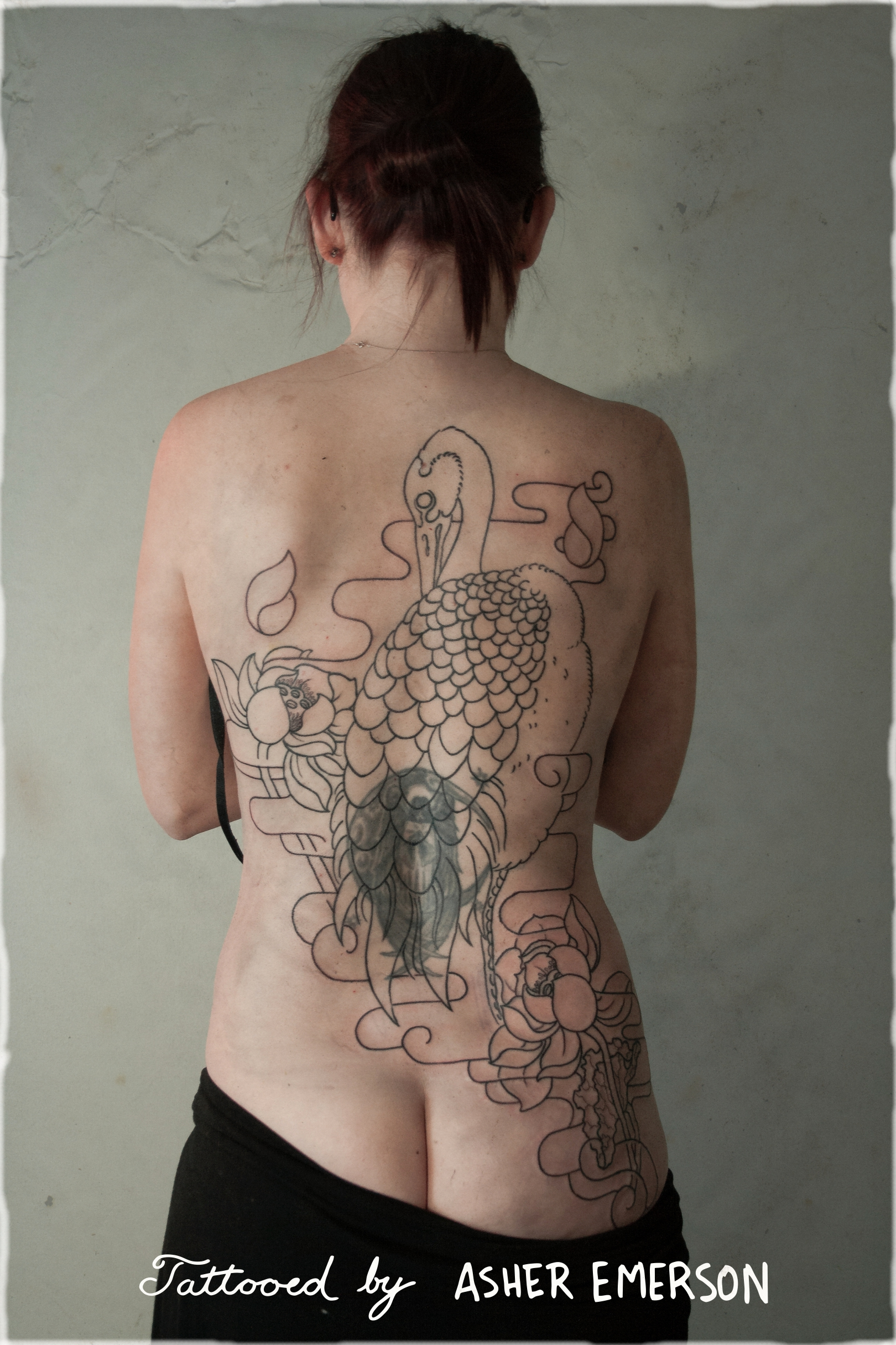 Line work backpiece