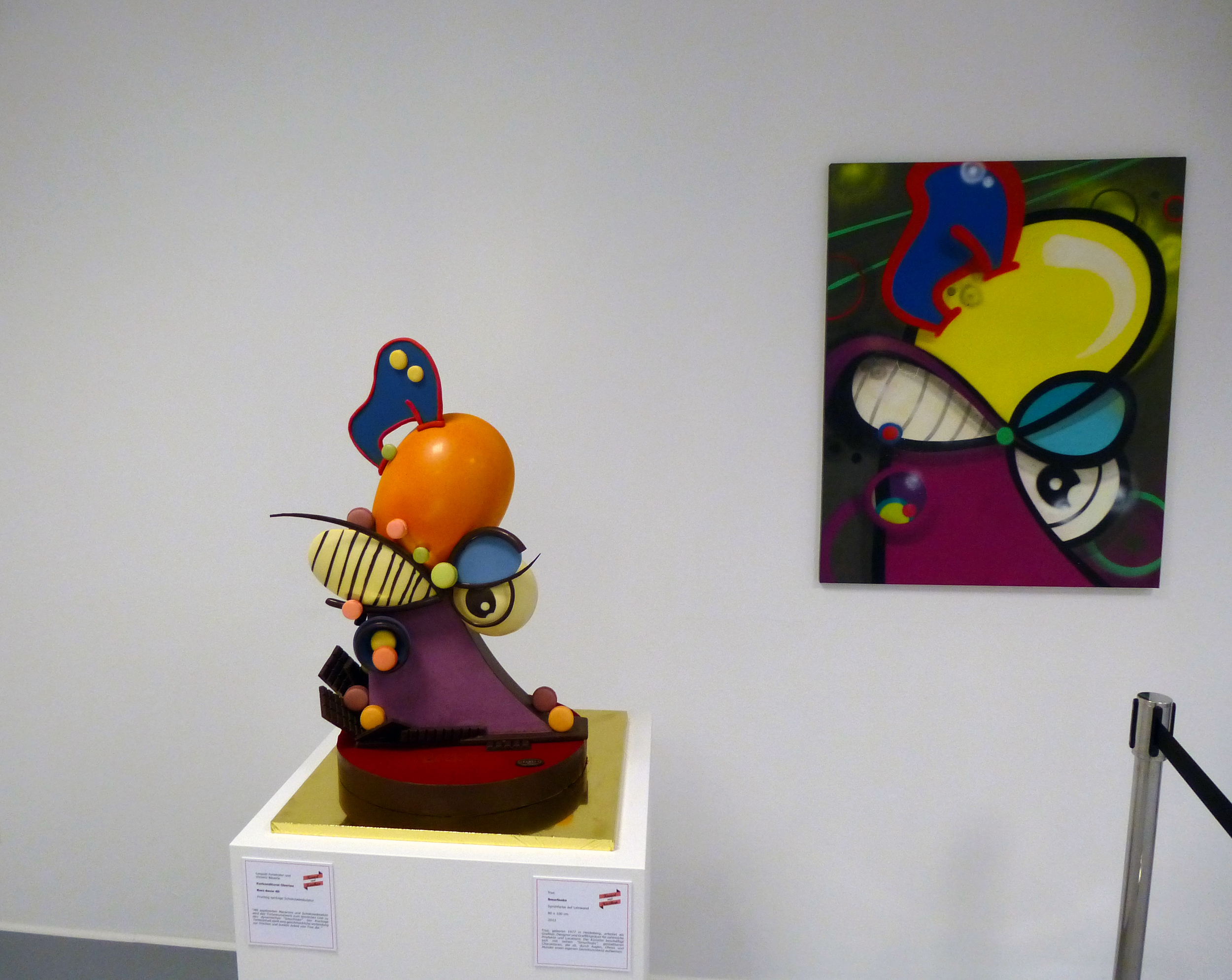 "title: ""kurz davor"" 100cm x 80cm/cake-sculpture by leo forsthofer"