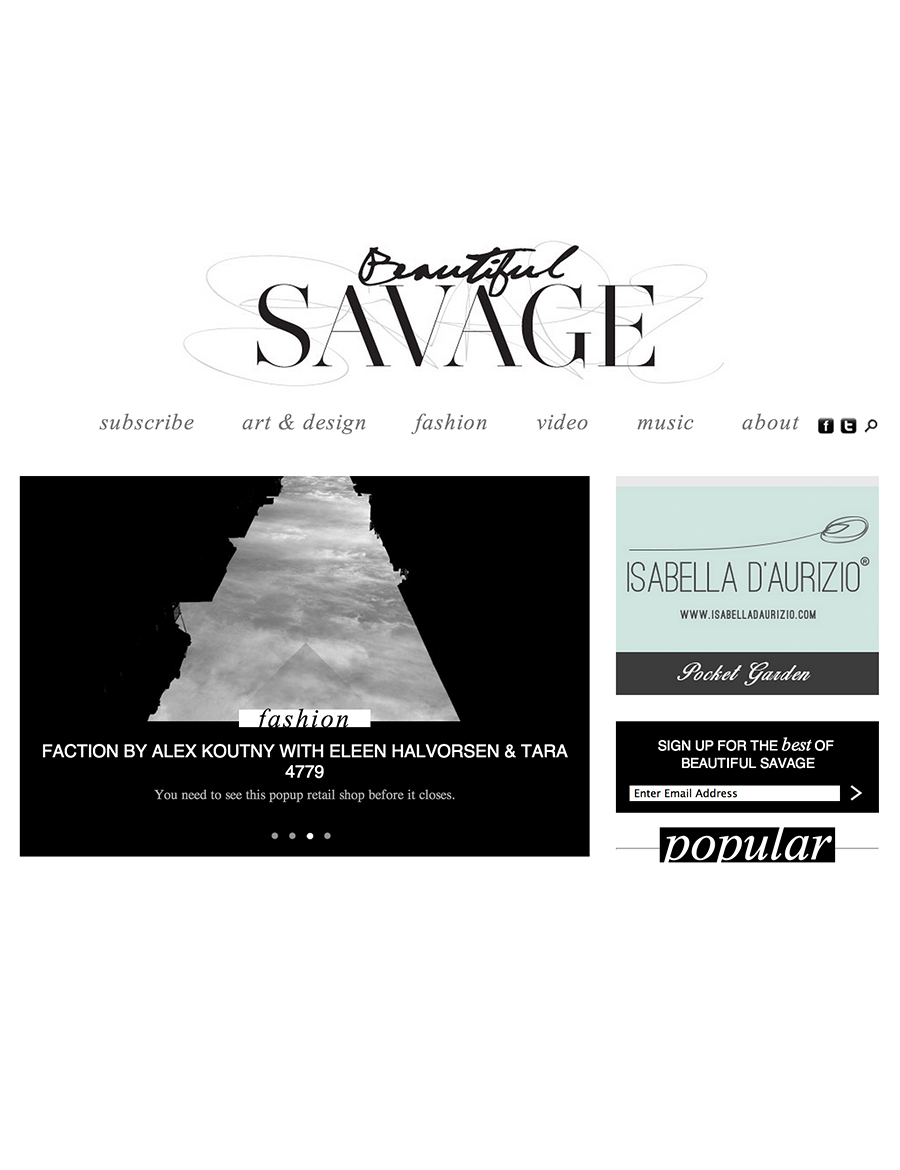 BEAUTIFUL SAVAGE   - Online