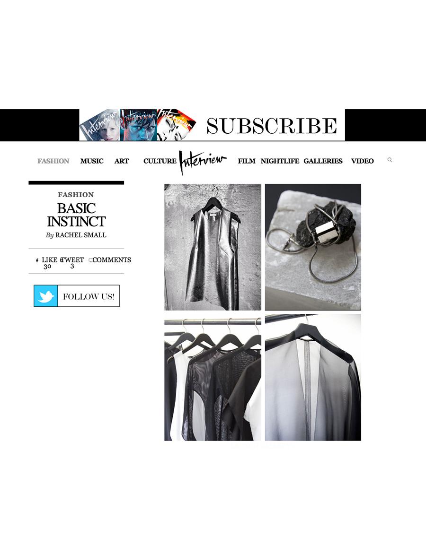 INTERVIEW MAGAZINE  - Online