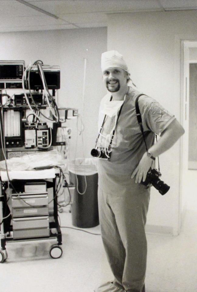 The Surgeon - Prepped for infant neuro surgery, 1994.