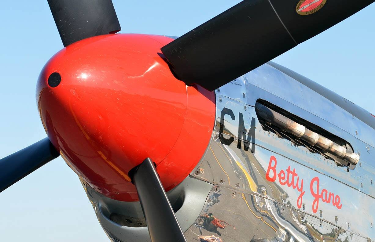 Collings' P51 Fighter was part of their traveling history display.