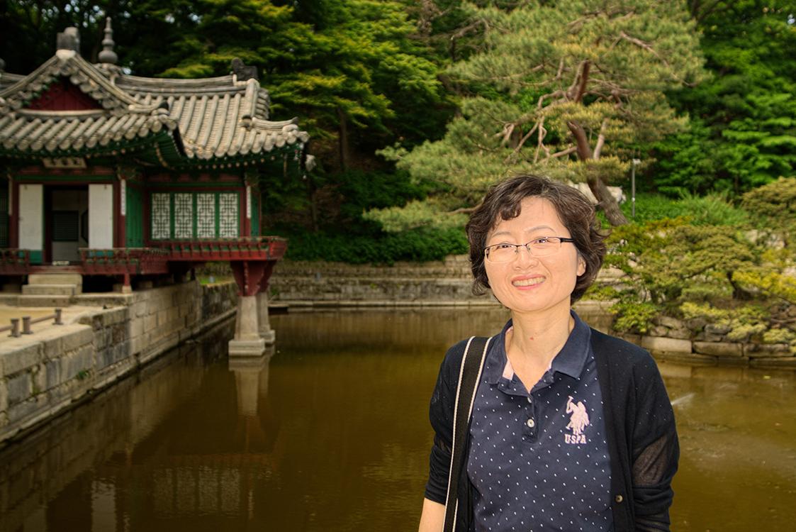 Jaeeun at Changdeokgung Palace in Seoul.jpg