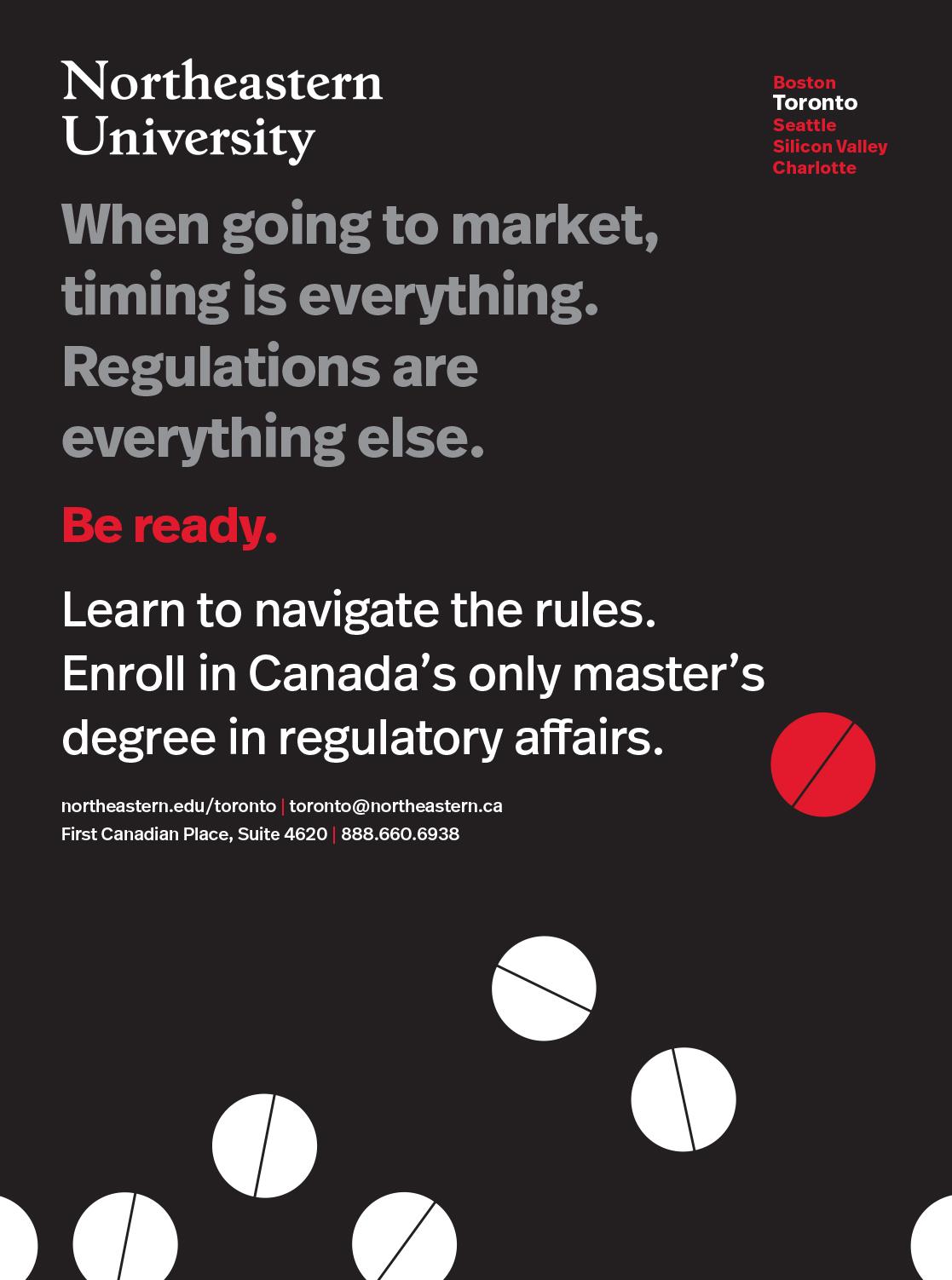 - MS in Regulatory Affairs