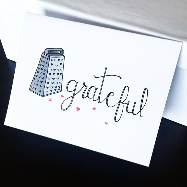 🖤Grateful.........for you, and you, and cheese, and you, and you. 😍 • • • There's still time to order your last-minute Thanksgiving and holiday cards! Shop link 🔝 • • • #grateful #stationery #greetingcards #puns #holidaycards #thanksgiving #illustration #kindness #love #loveislove #cheese #paperlove #papergoods #ivyandink #maker #print #etsy #makersgonnamake #handmade #typography #snailmail #thankful #dwldesigns #greetingcarddesign