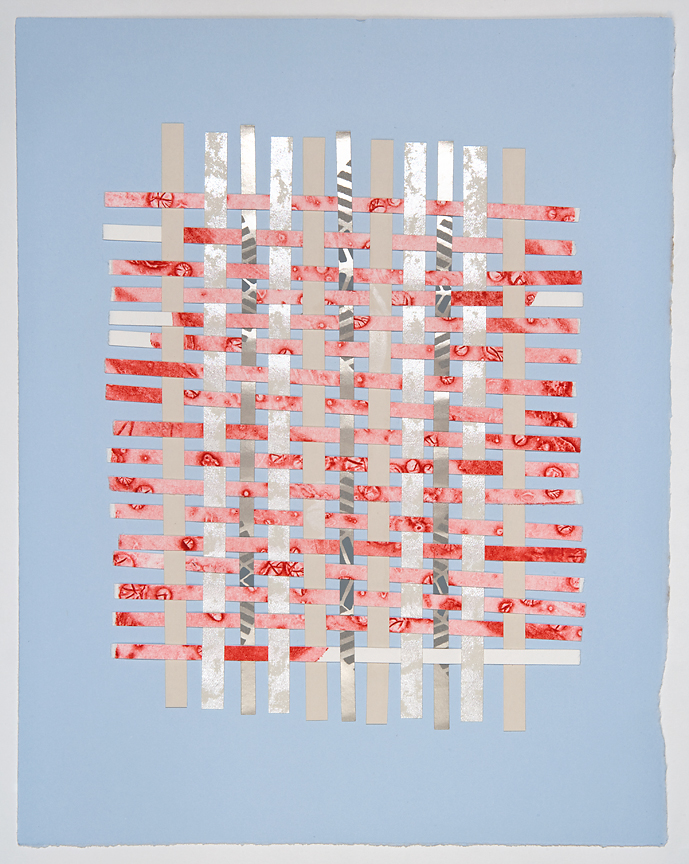 "#27  11"" x 14""  Mixed Media Collage on Magnani Pescia Paper  2013"