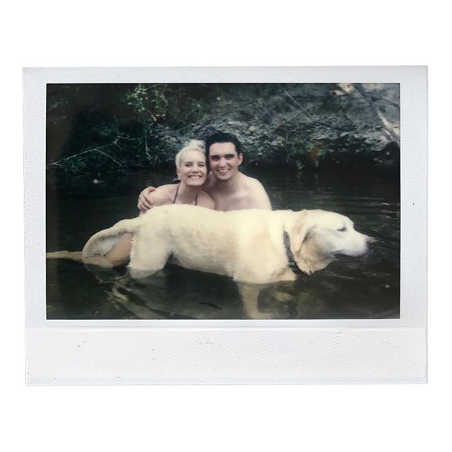Every time I look at this Polaroid it reminds me of all the things I love most about summer: bodies of water, spontaneity, best buds, and adventures. School started back last week but here's to hanging on to all the summer things for just a little while longer✨  Ps. I promise Bingley loves summer too. Don't be fooled by her face/body language 😂