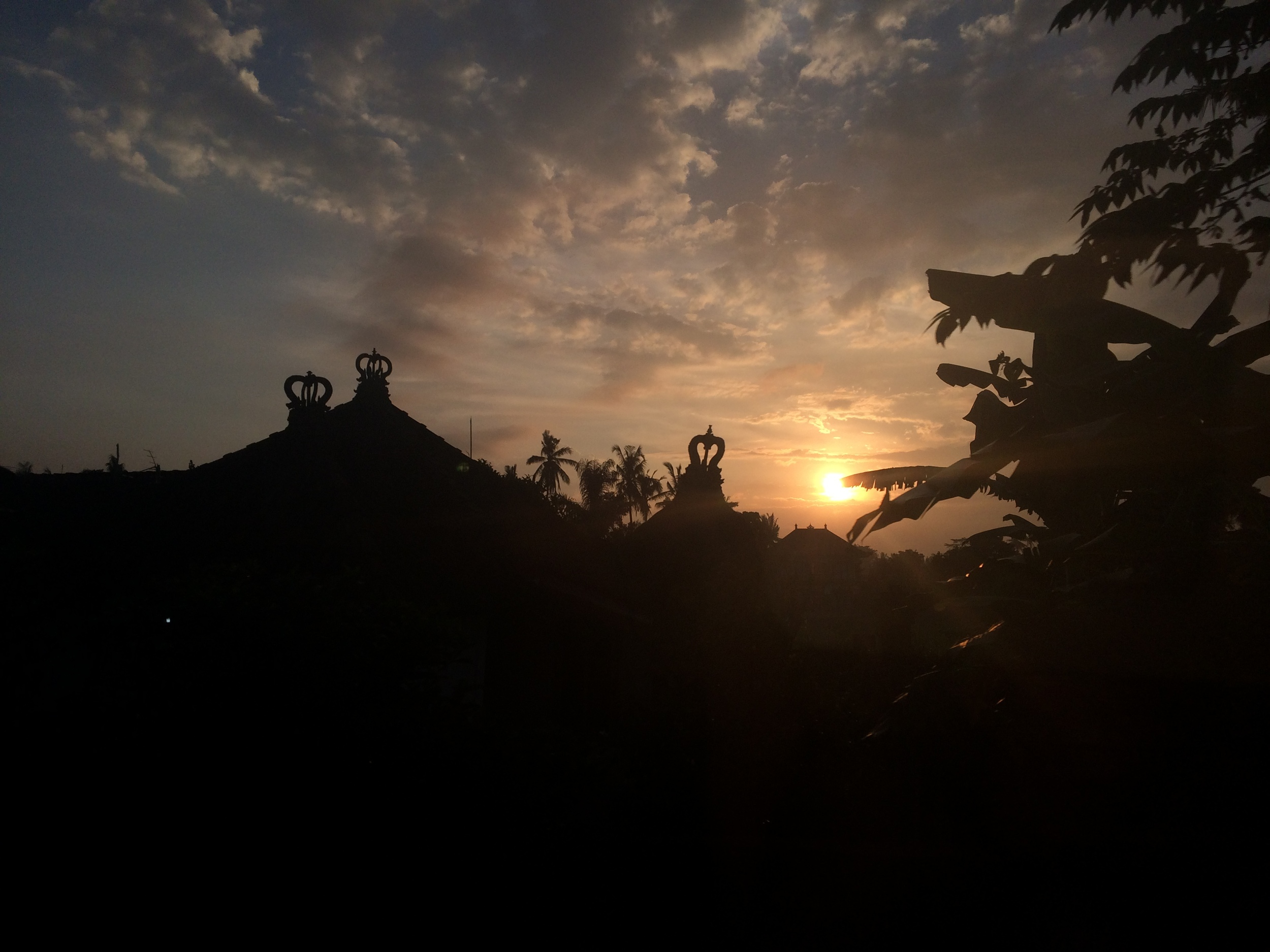 My first picture as the sun was setting in Ubud.