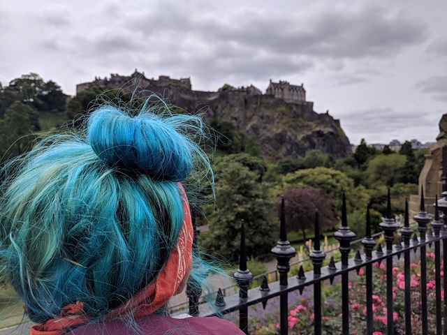 Happiest when I don't know what time or day it is. Looking up at the amazing Edinburgh Castle in weird and quirky Edinburgh, Scotland.