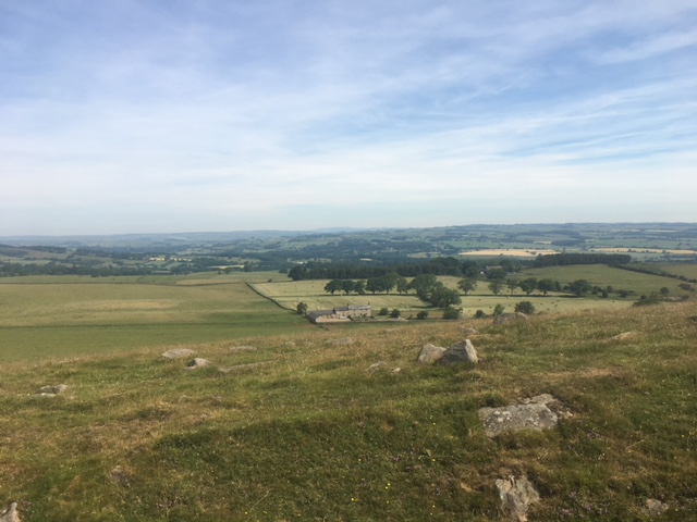 Some of our first stunning views. Gone, for the most part, were the sheep pastures. They were replaced with gorgeous sweeping vistas of the English countryside, daunting rocky crags and tourists who were doing the one day Northumberland stretch.