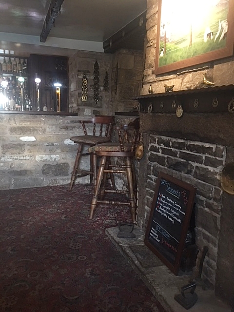 The inside of the Milecastle Inn where we eventually retreated to have another beer and talk to other hikers until we realized that the sun had fooled us again. It was 10:30pm and time to go to bed.
