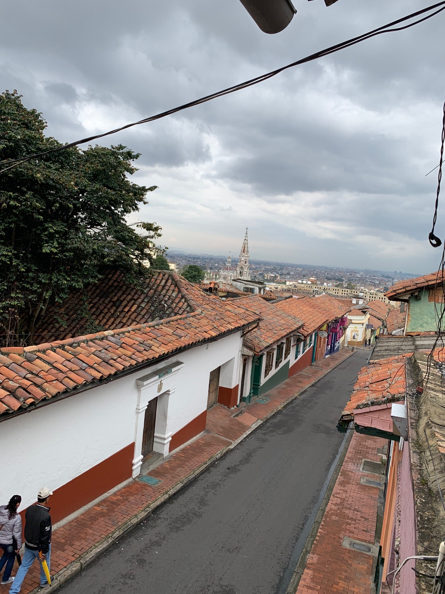 The view from our AirBnb in La Candelaria