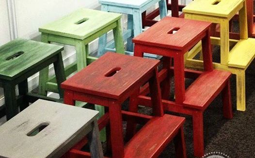 Milk Paint Step Stool Class