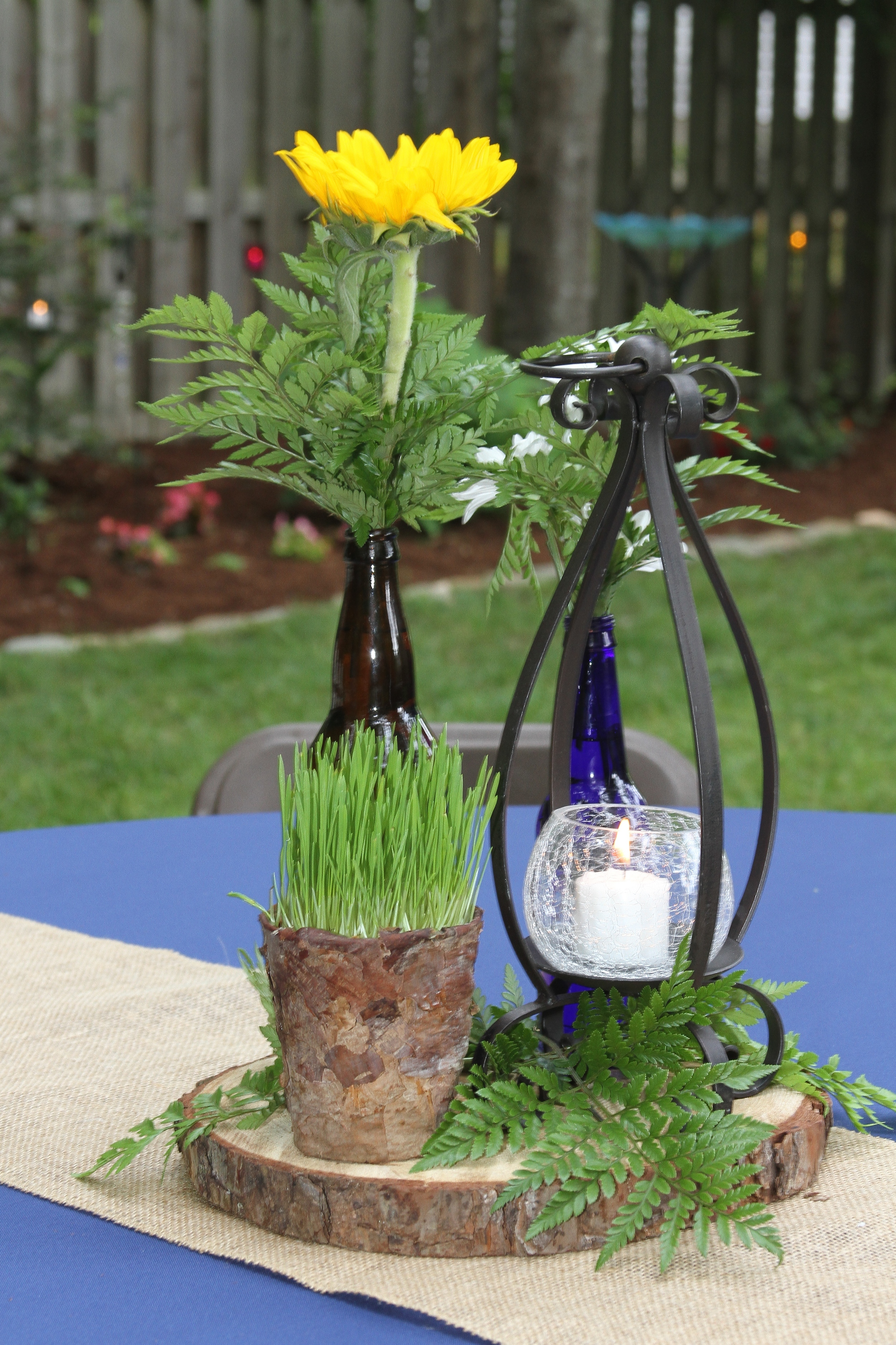 Lantern,   Wood, Wood Bucket ,  Bottle