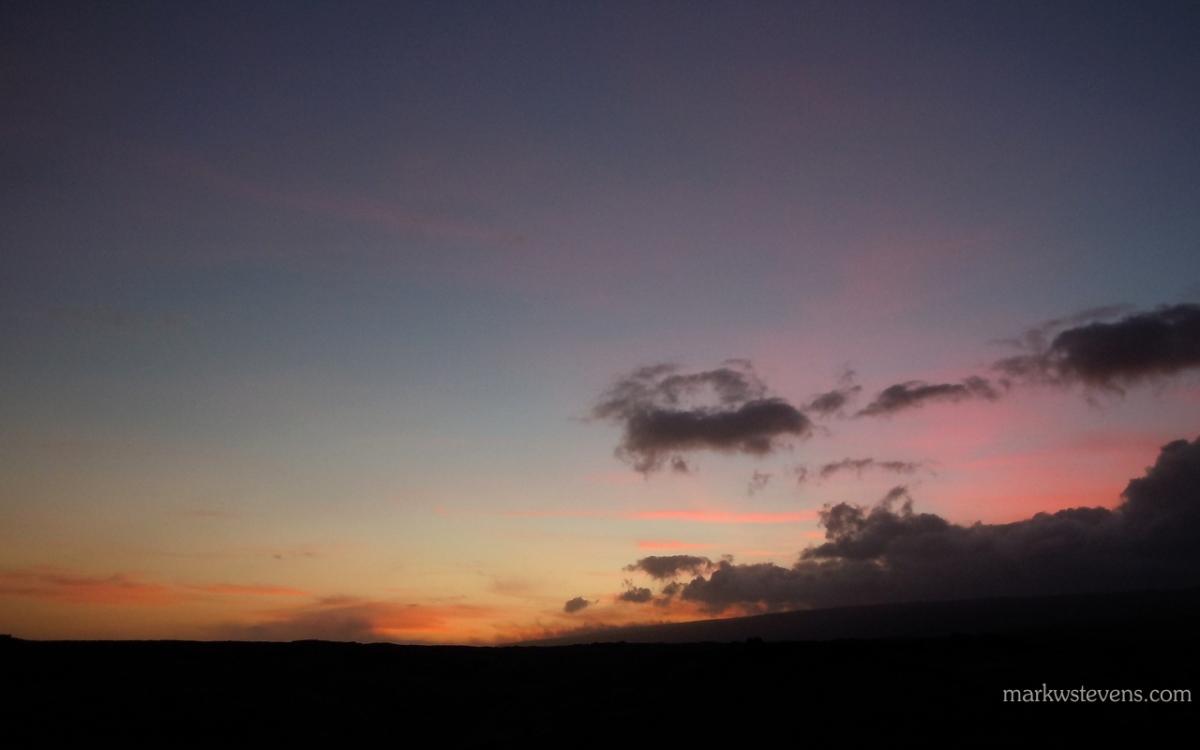 Sunset on Kilauea