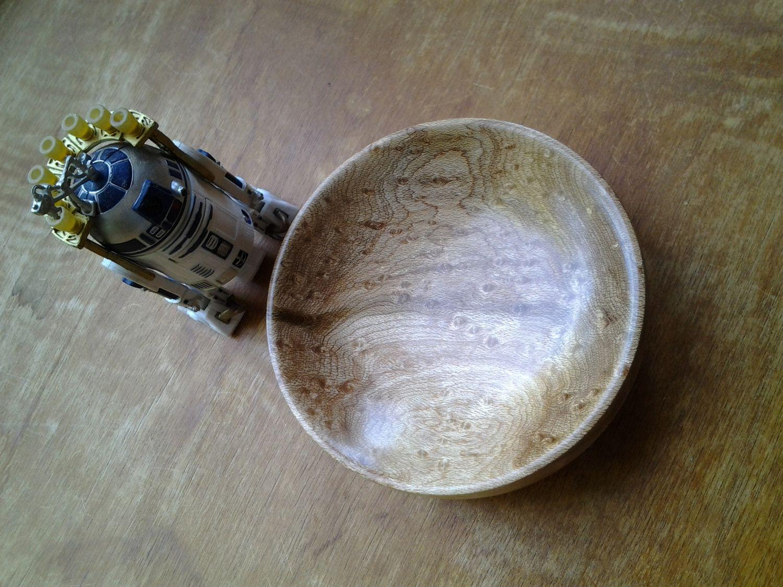 Dark bird's eye maple bowl.