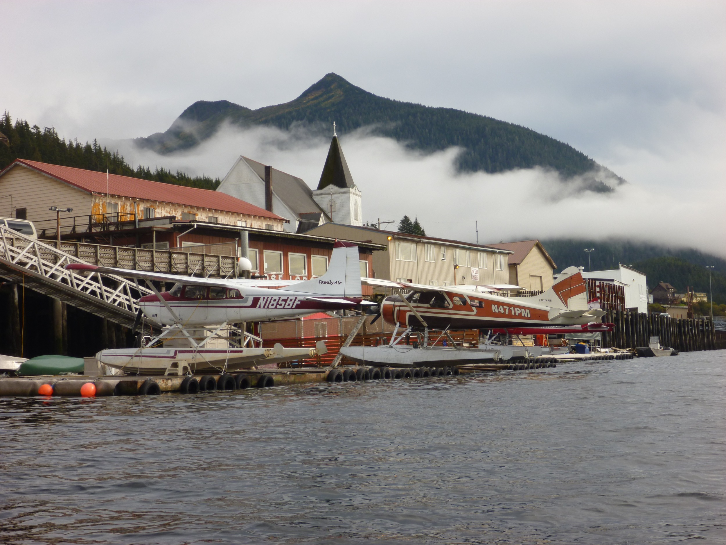 Return to Ketchikan by Plane