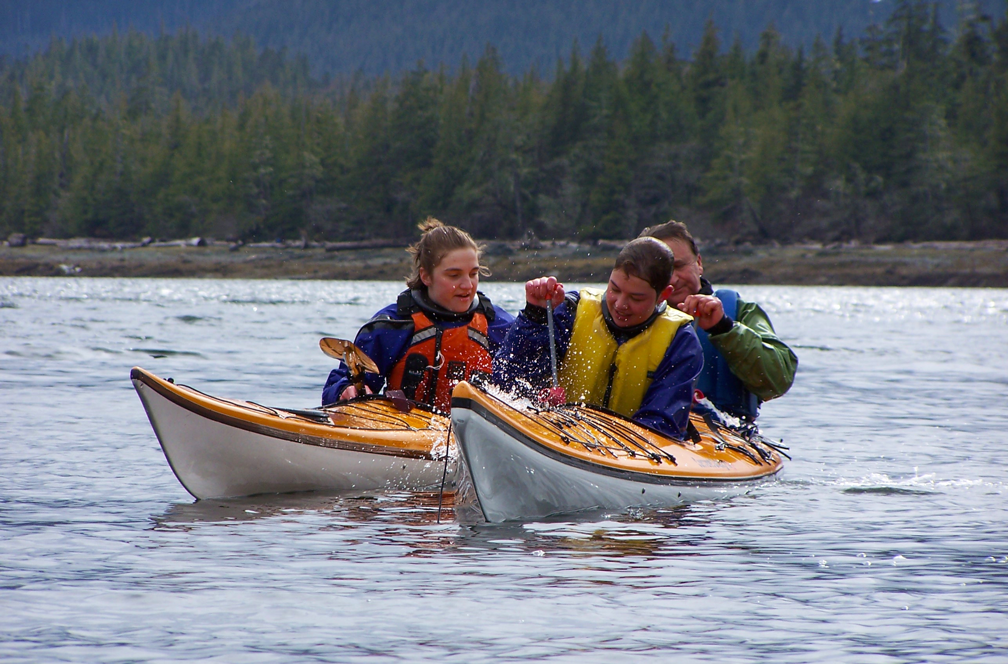 In the unlikely event that your kayak capsizes, our guides are trained to get you quickly back in!