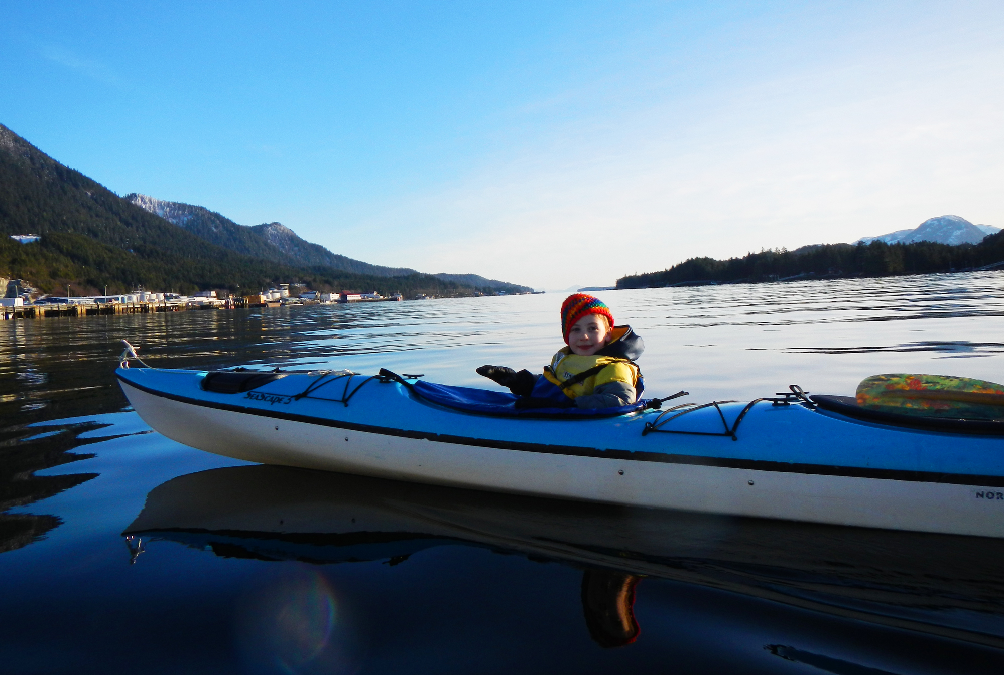 It's not that cold! We really do get a few beautiful days for paddling in the winter.