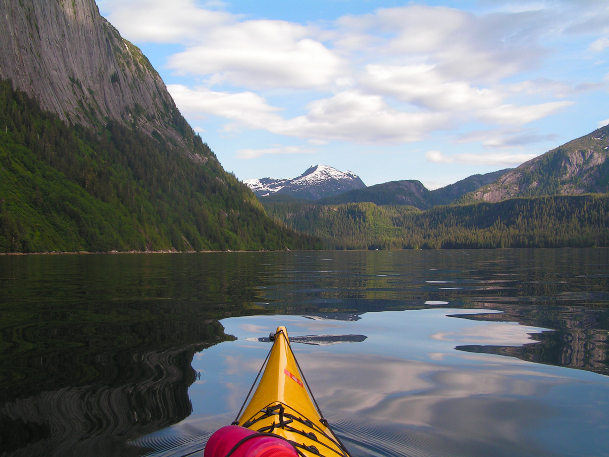 Paddling into Punchbowl Cove, Misty Fjords, Alaska 2005.