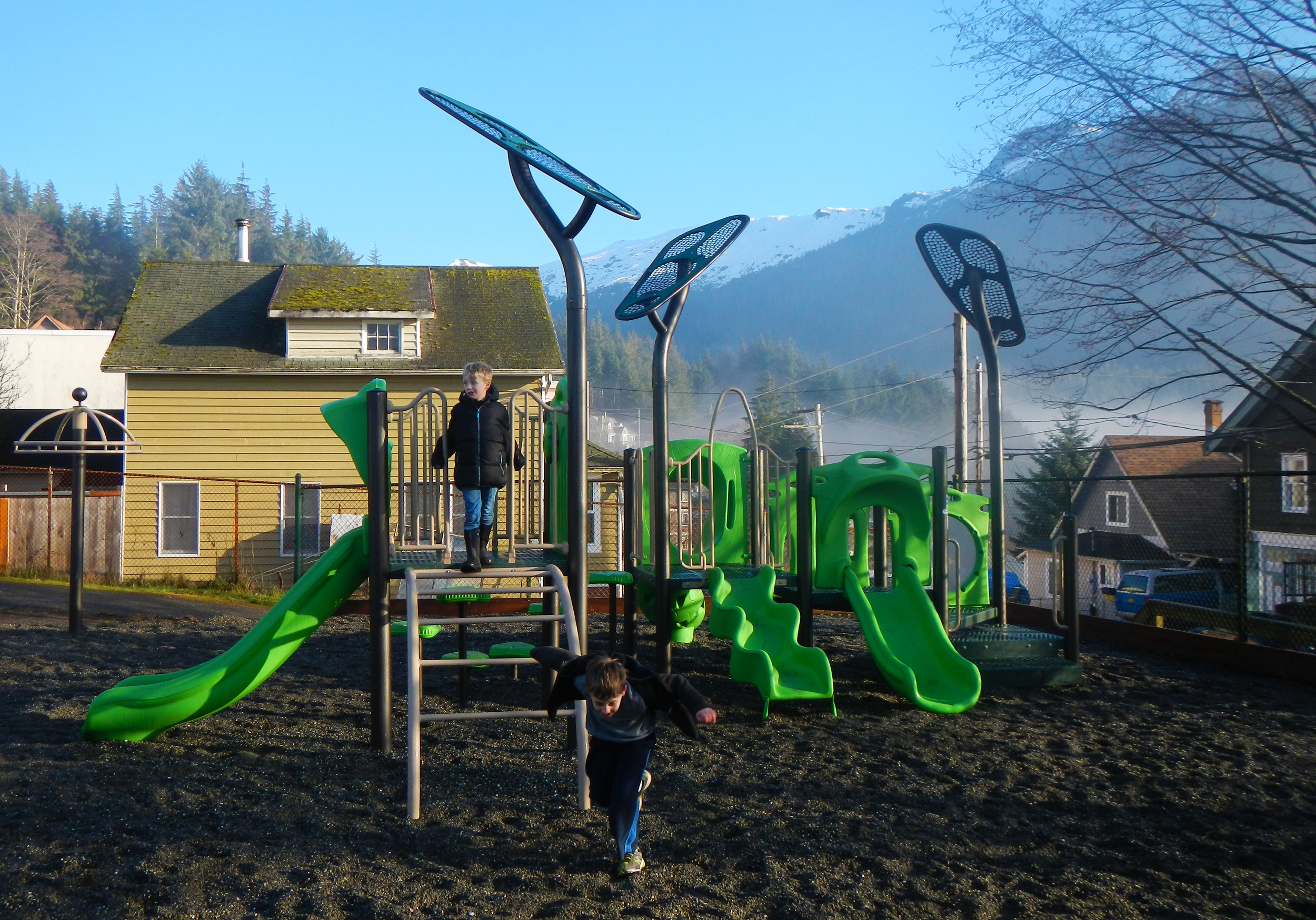 Grant Street Playground, just up the hill from the Cruise Ship dock in Ketchikan.