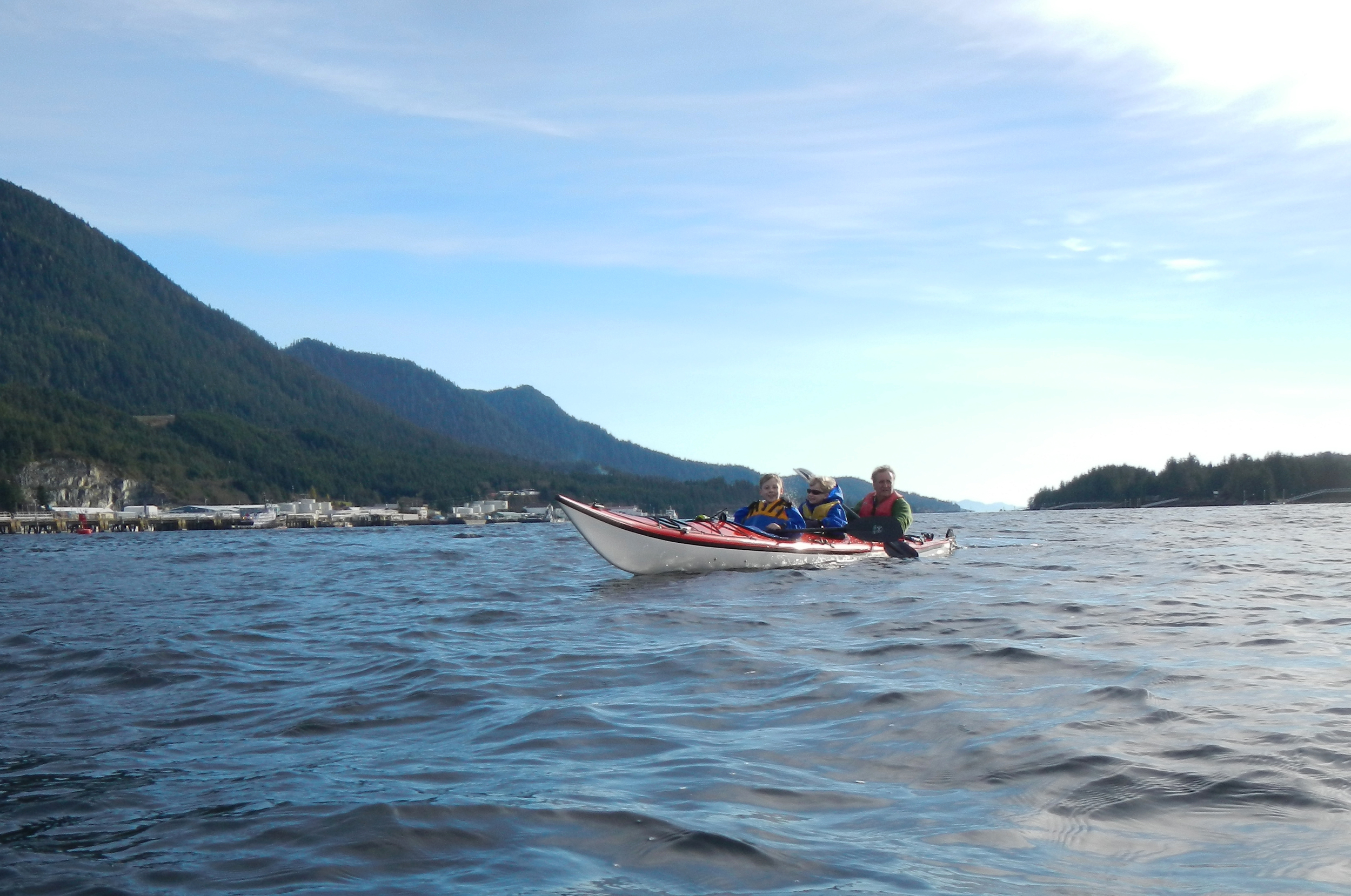 Family paddling in our Seaward Passat G3.
