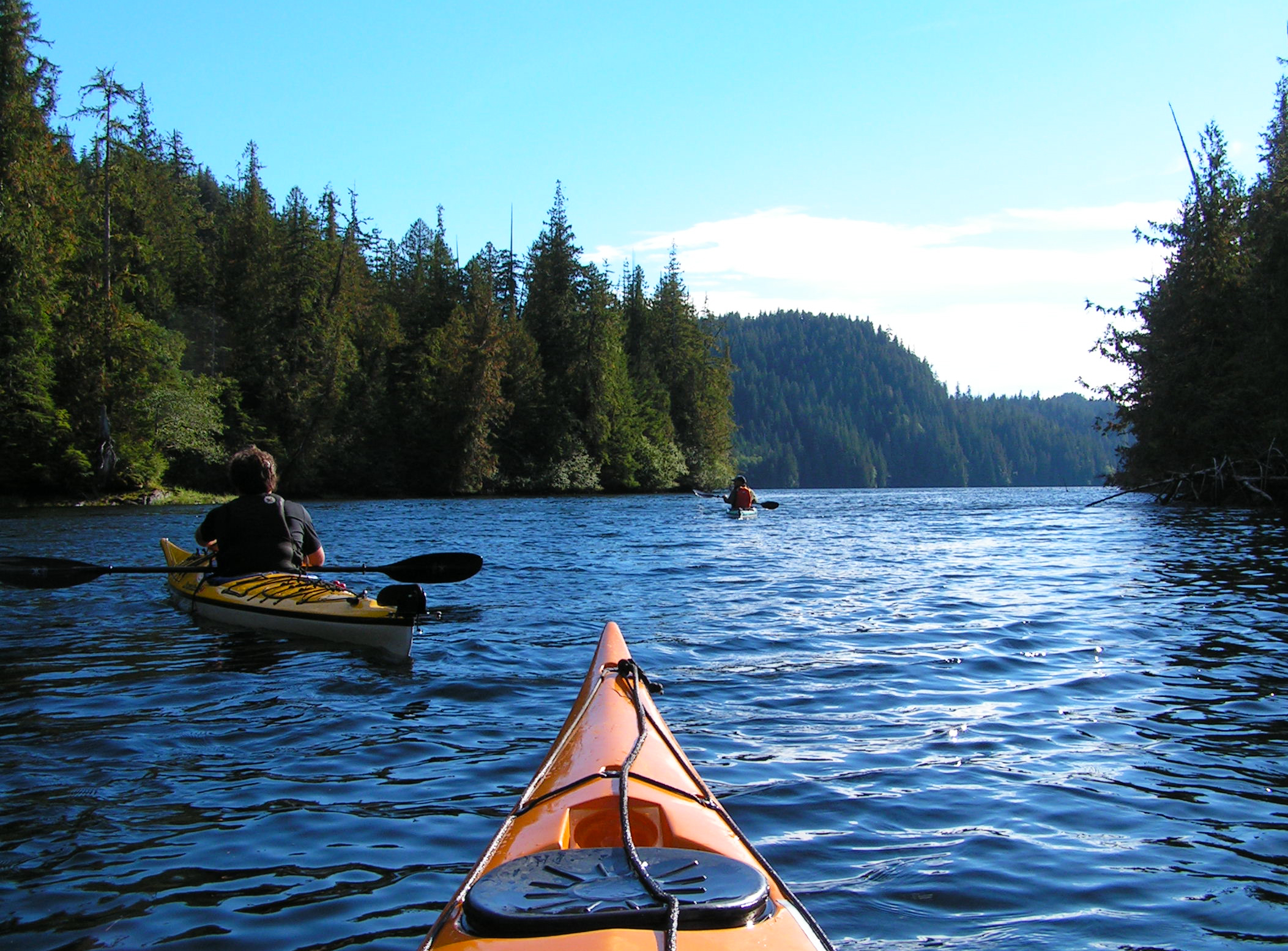 A beautiful afternoon for paddling George Inlet.