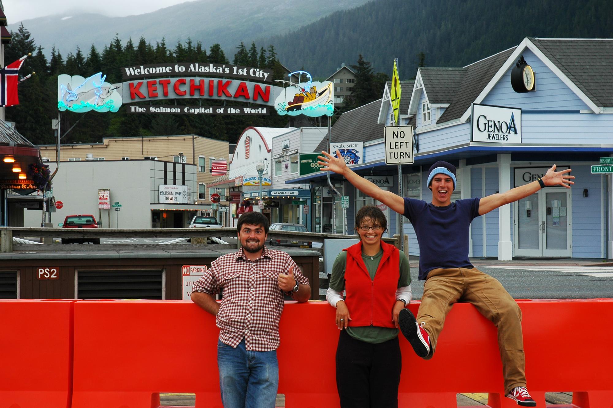 2005 Guides: Chris, Nicole & Tristan.