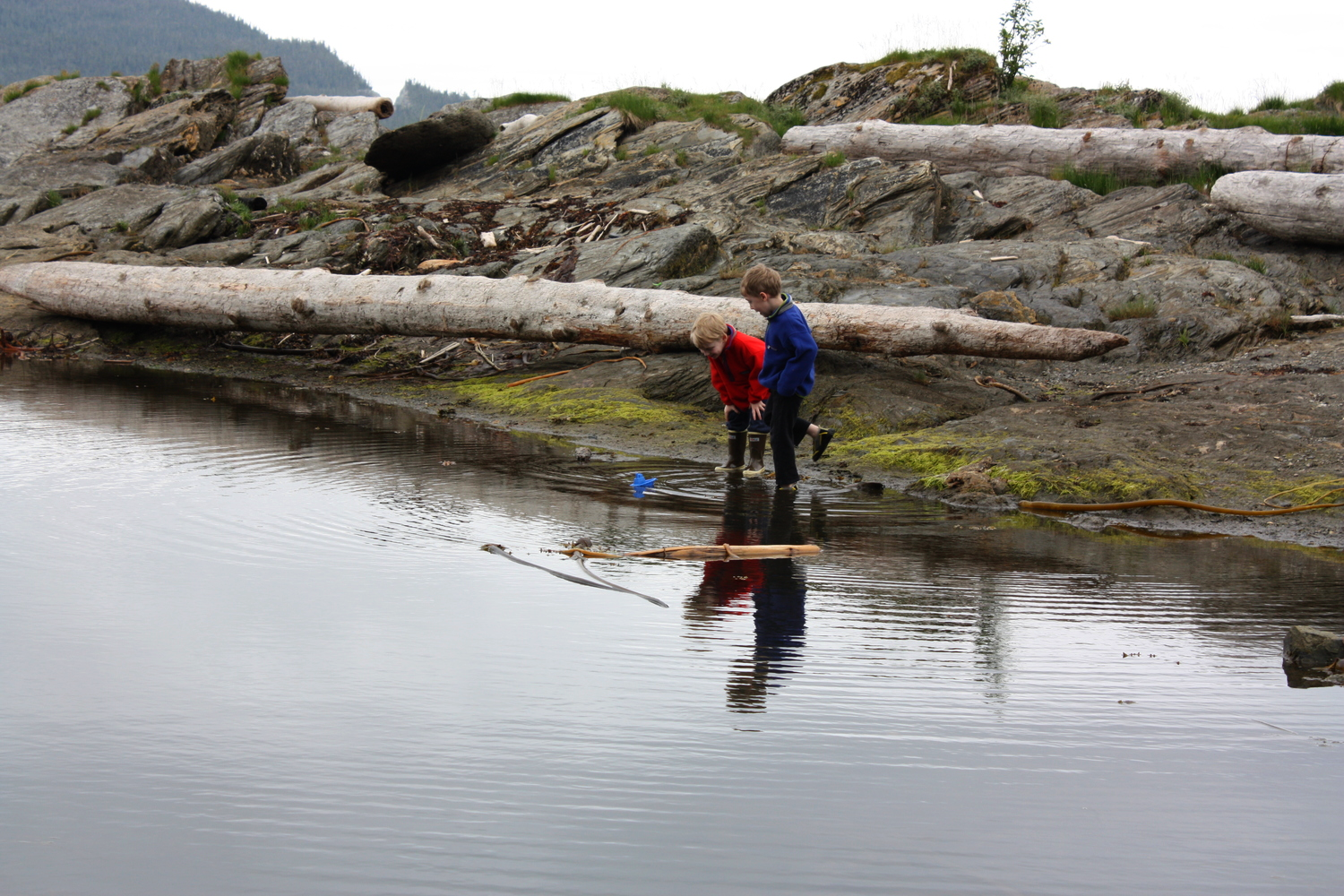 Bugge Beach, a few miles south of Ketchikan is a locals favorite spot for barbeques, bonfires and swimming.