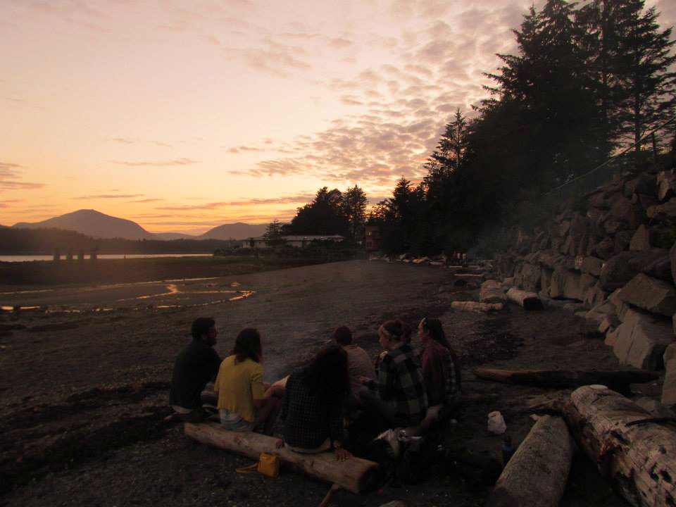Beach bonfires and 10pm sunsets are some of the best parts of summers in Ketchikan.