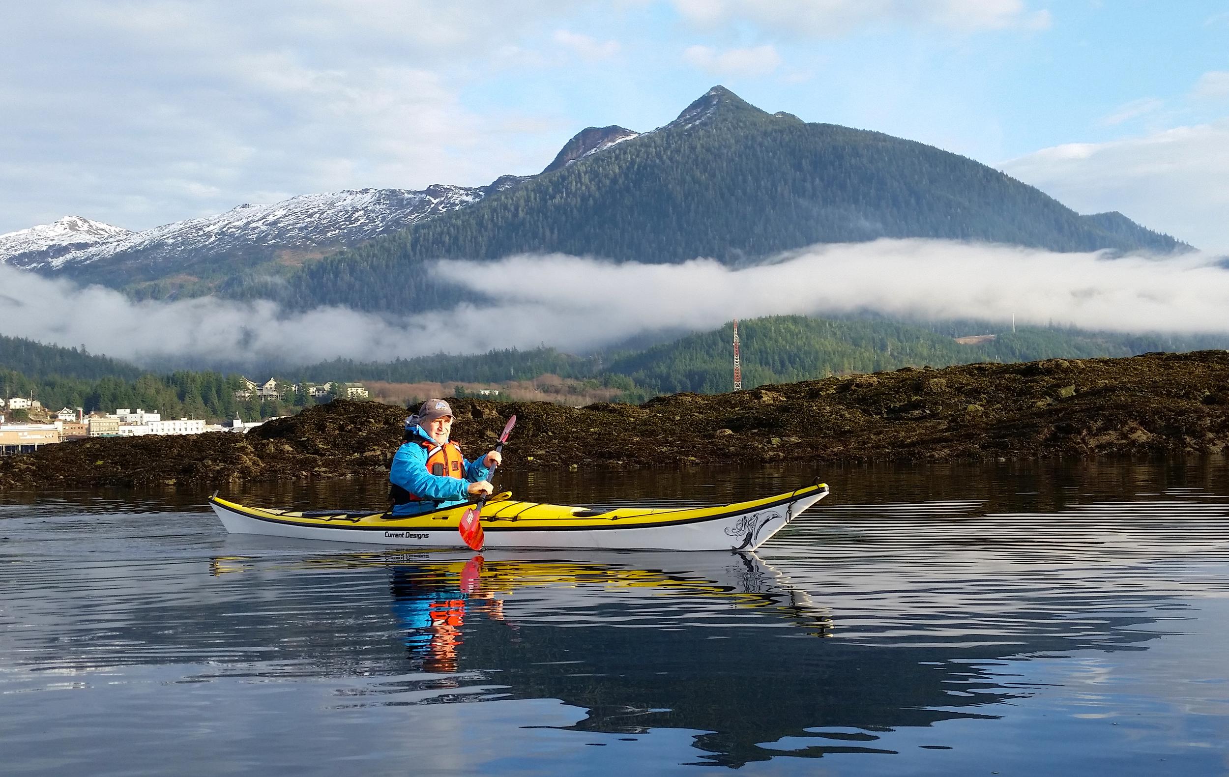Greg paddling near Ketchikan, Alaska