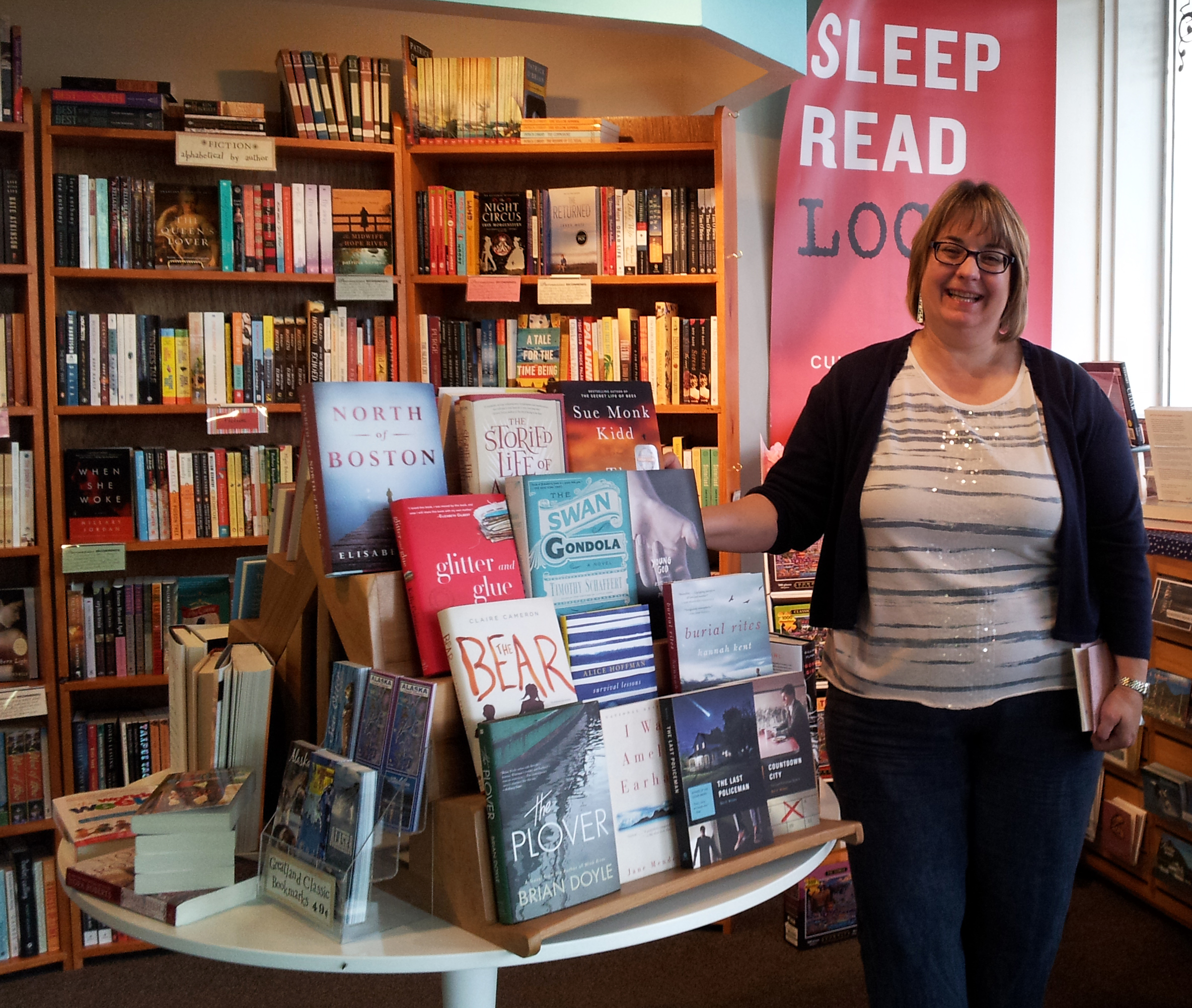 Charlotte Glover, owner of Parnassus Books at her store in downtown Ketchikan.