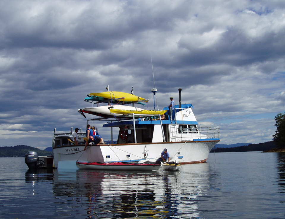 Big boats, medium sized boats and little boats are all a part of the Orcas Cove experience.