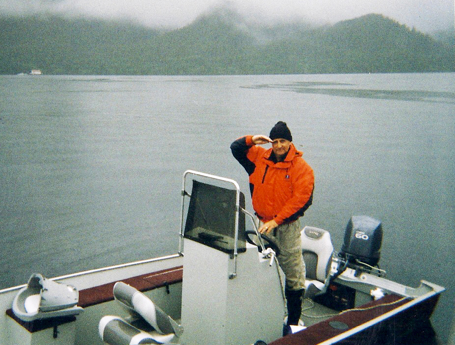 Driving to and from Orcas Cove in the open Lund skiff was fun, but a little chilly on Misty days.